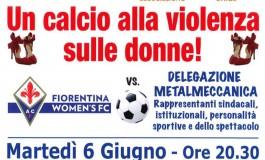 Un calcio alla violenza sulle donne, allo stadio Bozzi la partita tra metalmeccanici e Fiorentina Women's a sostegno di Artemisia