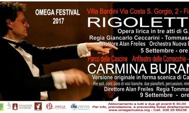 Rigoletto, Carmina Burana e Requiem di Mozart: a settembre ritorna l'Omega Festival 2017
