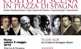"""Colpo di scena in piazza di Spagna"""".  Il flashmob delle Casa della Memoria"""