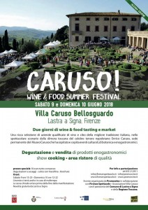 LOCANDINA CARUSO WINE & FOOS SUMMER FESTIVAL
