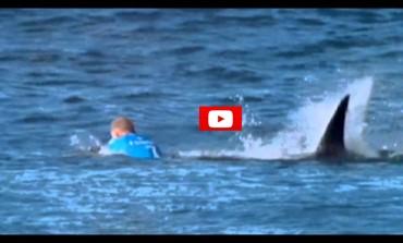 Campione di surf attaccato da uno squalo durante la finale di una gara
