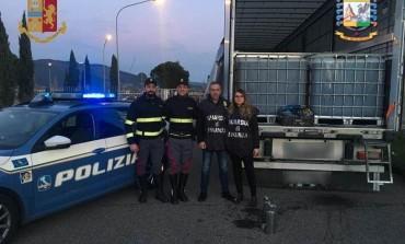 Bloccato da Polstrada e GdF camion con 26.000 litri di gasolio di contrabbando