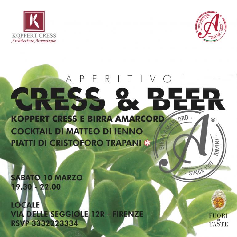 Fuori di Taste, al 'Locale' è di scena l'aperitivo Cress & Beer
