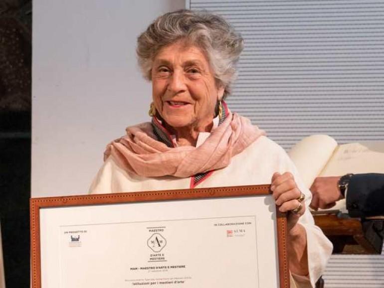 A Giorgiana Corsini il Premio Sostenitore Dei Mestieri D'arte