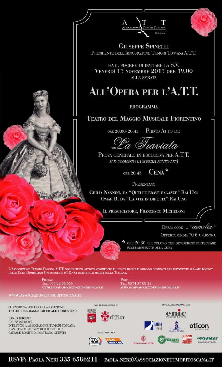 """""""All'Opera per l'A.T.T.: venerdì 17 novembre serata di gala per il progetto """"Mai Soli"""""""