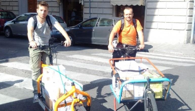 A Firenze i servizi logistici si effettuano in bicicletta. Ecco CycloLogica, nata dall'idea dell'associazione Brisken Asd