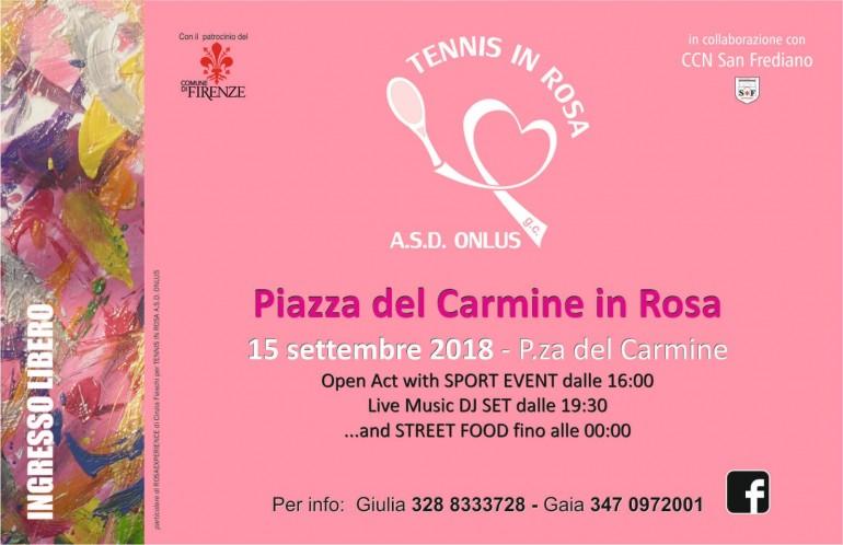 Piazza del Carmine in Rosa, per la lotta contro il tumore al seno